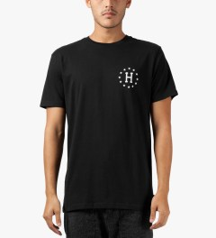 HUF Black Strike Out S/S T-Shirt Model Picutre
