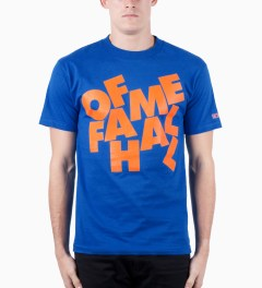 Hall of Fame Royal Blue Stacked T-Shirt Model Picutre