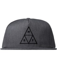 HUF Heather Grey Triple Triangle Snapback Cap Picutre