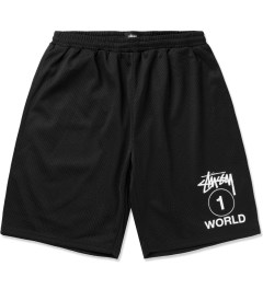 Stussy Black One World Mesh Shorts Picutre