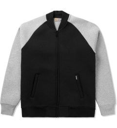 Carhartt WORK IN PROGRESS Black/Grey Heather Two-tone Car-Lux Bomber Jacket Picutre