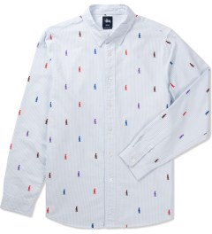 Stussy Light Blue King Stripe Shirt Picutre