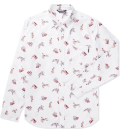 Undefeated White Collegiate Oxford Shirt Picutre