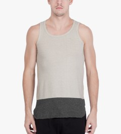 CASH CA Grey Panel Color Tank Top Model Picutre