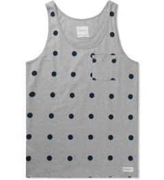 SATURDAYS Surf NYC Heather Grey Rosen Polka Dot Tank Top Picutre