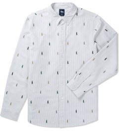 Stussy Grey King Stripe Shirt Picutre