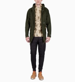 Undefeated Olive Shemagh Fishtall Jacket Model Picutre