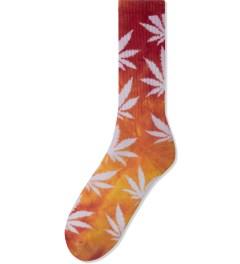 HUF Magenta/Yellow Tie-dye Plantlife Crew Socks Picutre