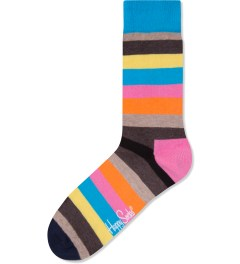Happy Socks Blue/Pink Stripe Socks Picutre