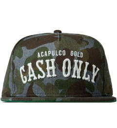 Acapulco Gold Heathered Camo Cash Only Snapback Cap Picutre