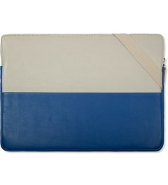 "Wood Wood Blue/Aluminium 15"" Laptop Bag Model Picutre"