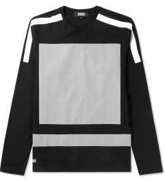 AMH Black Reflective Block Panel L/S T-Shirt Picutre