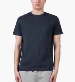 SUNSPEL Navy S/S Crewneck T-Shirt Model Picutre