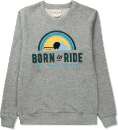 BWGH Grey Born To Ride Sweater Picutre