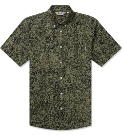 Carhartt WORK IN PROGRESS Camo Stain Green Rinsed S/S Fuller Shirt Picutre