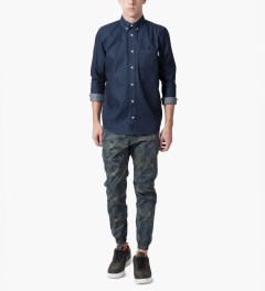 Publish Navy Locust Transformed Squared 3M Pants Model Picutre