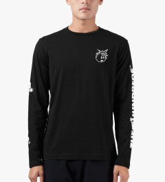 The Hundreds Black Hyper L/S T-Shirt Model Picutre