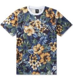 Stussy Black Island Flower Mesh T-Shirt Picutre
