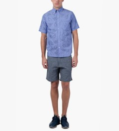 Primitive Blue HLFU S/S Woven Shirt Model Picutre