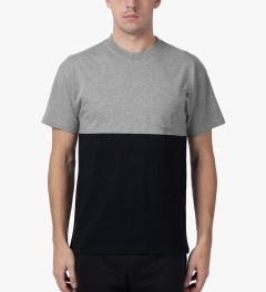 10.Deep Heather Grey Chaos Pocket T-Shirt Model Picutre