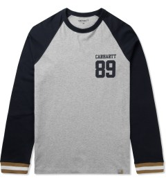 Carhartt WORK IN PROGRESS Grey Heather/Jet L/S Rib T-Shirt Picutre