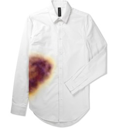 Rochambeau White Bruise Print Botton Down Shirt Picutre