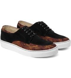E.R SOULIERS DE SKATE Brown Inca/Black Suede Shoes Model Picutre