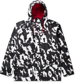Lazy Oaf Black/White Digital Rain Mac Jacket Picutre