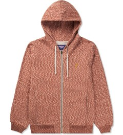 Lightning Bolt Pompeian Red Mirror Essential Zip Hoodie Picutre