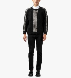 Henrik Vibskov Black Momo Knit Sweater Model Picutre