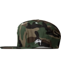 Stussy Camo Leather S Cap Model Picutre