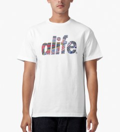 ALIFE White Madiba T-Shirt Model Picutre
