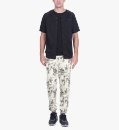 HUF White Floral Sweatpants Model Picutre