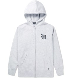 The Hundreds Athletic Heather Old H Zip Up Hoodie Picutre