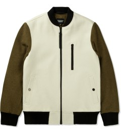 Christopher Raeburn Cream/Khaki Wool Bomber Jacket Picutre