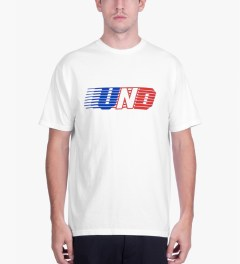 Undefeated White UND Lines T-Shirt Model Picutre