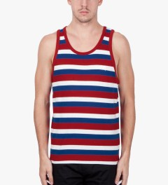 Stussy Red Daniel Tank Top Model Picutre
