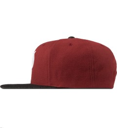 Primitive Red Classic P Snapback Cap Model Picutre