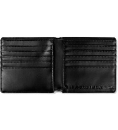 The Hundreds White Geo Greenback Wallet Model Picutre