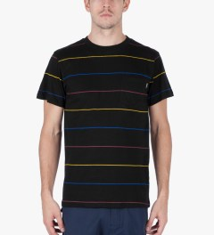 ONLY Black Primary Stripes Pocket T-Shirt Model Picutre