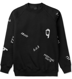 A Cut Above Black Youth Crewneck Sweater Picutre
