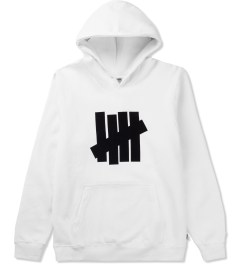Undefeated White 5 Strike Basic Hoodie Picutre