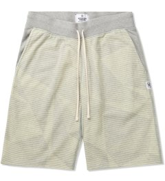 Reigning Champ Heather Grey/Ivory RC-5019-21 Knit Midweight Twill Terry Geometric Print Sweatshort Picutre