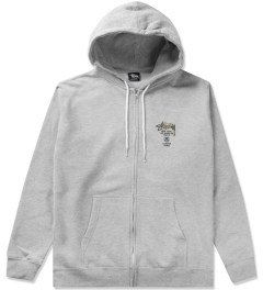 Stussy Heather Grey Camo WT Zip Hoodie Picutre