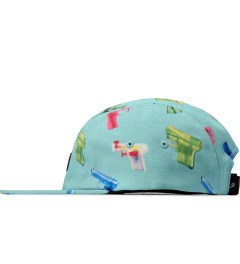 Primitive Aqua Soaked 5-Panel Cap Model Picutre