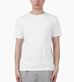 SUNSPEL White S/S Crewneck T-Shirt Model Picutre