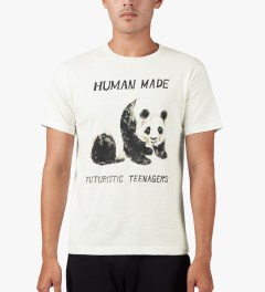 Human Made White Panda T-Shirt Model Picutre
