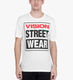 VISION STREET WEAR White Logo T-Shirt Model Picutre