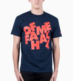 Hall of Fame Navy Stacked T-Shirt Model Picutre