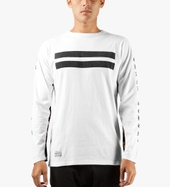 Grand Scheme White Renegade L/S T-Shirt Model Picutre